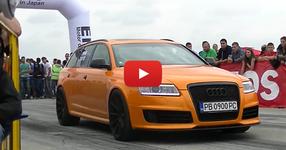 Българско Audi RS6 наказва Lamborghini Aventador в Румъния! (ВИДЕО)