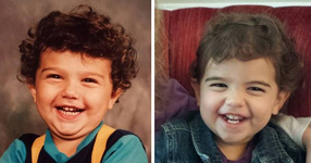 20 снимки на родители и техните деца на същата възраст, които изглеждат точно като близнаци! (СНИМКИ)