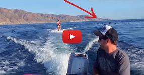 Тя караше водни ски, но изведнъж зад нея се появи неочакван гостенин! ЕТО ТОВА СЕ КАЗВА ИЗНЕНАДА! (ВИДЕО)