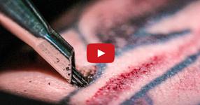 ВИЖТЕ как работи машинката за татуировки на бавен кадър! ПРОСТО УНИКАЛНО !!! (ВИДЕО)