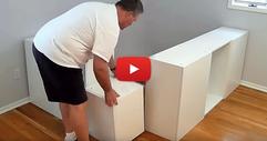 Той комбинира 7 стандартни кухненски шкафове. Когато видите какво направи с тях, и вие ще искате същото нещо във вашия дом! (ВИДЕО)